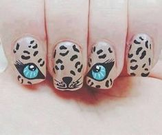 We love these fun animal nails! Come get a manicure and try spicing it up with a little nail art! Cheetah Nail Designs, Cheetah Nails, Cat Nails, Best Nail Art Designs, Leopard Eyes, Tiger Nails, Cheetah Face, Blue Nails, Cheetah Print