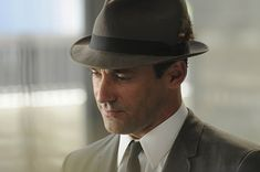 """Lions Gate confirmed Wednesday that it has finalized a one-year contract extension with Jon Hamm, a three-time Emmy nominee for his role in the acclaimed AMC series """"Mad Men. Mad Men Party, Mad Ads, Lions Gate, Men Tv, Don Draper, Jon Hamm, Hats For Men, Pin Up Girls, Marketing And Advertising"""