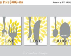 Beautiful and modern Family Personalized Kitchen Subway Art blended with popular Kitchen Utensils sure to be a showcase piece for your kitchen! Designed in Landscape format in two different color sets: Grey, Yellow, Teal & Charcoal Grey, Mustard , Sky Blue. Print size is 11 x 14 and it is Personalized with Family Last Name. This Family Kitchen print is Rolling With Love. Colors are fully customizable. Dimensions: (1) 11 x 14 print and is for the print only.  ★ AVAILABLE AS VERTICAL PRINT ...