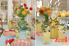 This bright, whimsical tablescape is the perfect setting for a casual summer dinner party.