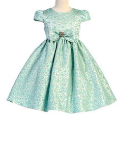 Another great find on #zulily! Sea Blue Bow A-Line Dress - Infant, Toddler & Girls #zulilyfinds