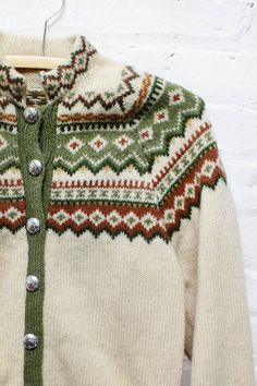 Norwegian Fair Isle Cardigan S/M
