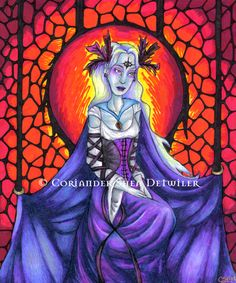 """""""The Chained Queen"""" artwork by Coriander Shea. <3"""