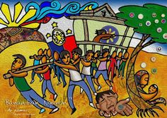 BAYANIHAN NGAYON Philippine Mythology, Painting, Art, Art Background, Painting Art, Kunst, Paintings, Performing Arts, Painted Canvas