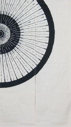 Japanese Noren - umbrella design