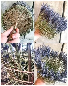 Handmade Crafts, Diy And Crafts, Arts And Crafts, Willow Weaving, Basket Weaving, Lavender Wands, Fall Crafts For Adults, Making Baskets, Art N Craft