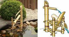 Fontaines de bassin de jardin en bambou nichoire oiseaux projet japonais pinterest - Fontaine en bambou ...