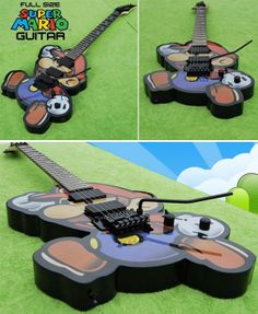 Anshibwxugbadehiufrwihb... I'm sorry... I'm still in shock. I mean... Are you seein' what I'm seein'? Cause I think I'm lookin' at a Super Mario Guitar... *.*