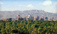 The Phoenix skyline.  Pretty nice.