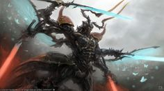 View an image titled 'Primal Ravana Art' in our Final Fantasy XIV: Heavensward art gallery featuring official character designs, concept art, and promo pictures. Final Fantasy Xiv, Realm Reborn, Guild Wars 2, Kendo, Video Game Art, Creature Design, Fantasy Creatures, Mythical Creatures, Fantasy Characters