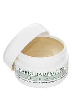 Free shipping and returns on Mario Badescu Drying Cream at Nordstrom.com. Conceal and heal pimples day or night with our blendable, invisible, soothing acne treatment designed for bumpy under-skin acne or for on-the-spot, quick drying of open, erupted zits. Super-concentrated formula. A little goes a long, long way. Great to use as a barrier between your blemish and your makeup.<br><br>How to use: Apply sparingly on pimples by dabbing with fingertip until cream blends into the skin. Best ...