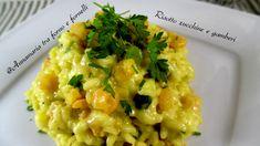 Risotto zucchine e gamberi Primo piatto semplice e gustoso, in cui i sapori della terra e del mare si uniscono in un connubio perfetto.