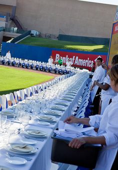 Catering event Cashman field Nate Ludens Photography