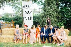 Jennie & Adam's beautiful home garden wedding Outdoor Wedding Reception, Outdoor Weddings, Wedding Ceremony, Beautiful Home Gardens, Beautiful Homes, Garden Wedding, Home And Garden, Bride, Couples