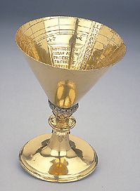 Epact: Chalice Dial signed by Bartholomaeus Madauer, dated 1554