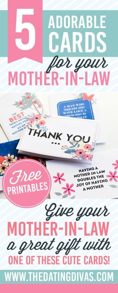 Can't wait to use one of these cards for my awesome mother-in-law this Mother's Day! www.TheDatingDivas.com