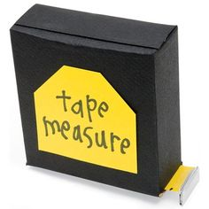 "Our faux tape measure extends the perfect Father's Day message to a dad who's skillful at building and repairing. Have him pull out the ruler tape to read, ""You rule, Dad!,"" ""I love you thiiiiiiis much!"" or ""Dad, you really go the distance!"""