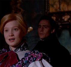 "Edith Cushing and Sir Thomas Sharpe. Crimson Peak - Featurette ""A Look Inside"" https://www.youtube.com/watch?v=zmvYJkztyDI"