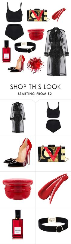 """""""💋💋💋"""" by milla16 ❤ liked on Polyvore featuring Maison Margiela, Diophy, Manokhi, Diana Vreeland and Witchery"""