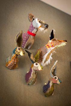 The animal heads