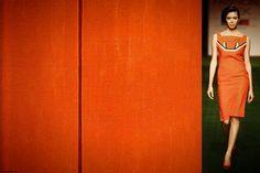 #BarnettNewman Tundra(1950)  #ShivanandNarresh  Scarlet Handpainted Linen Shift