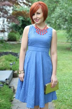 Thrift and Shout blog; Cute Outfit of the Day, J.Crew dress, Goodwill, thrift