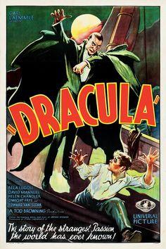 Vintage movie poster illustration