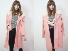 Rebekah D - Missguided Coat, H&M Jeans & Top - OOTD: The Pink Coat.