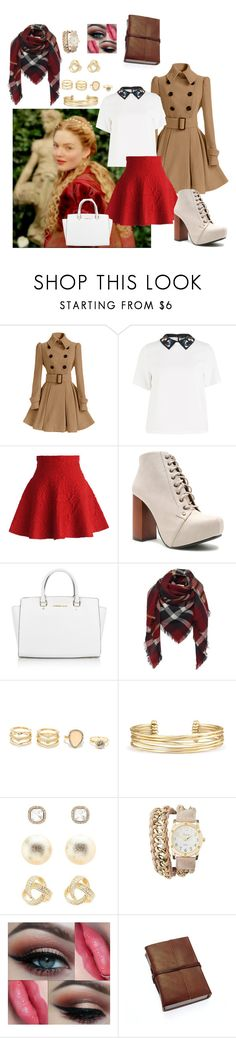 """""""Untitled #65"""" by xxpopcornloverxx on Polyvore featuring Sportmax, Chicwish, Qupid, Michael Kors, LULUS, Stella & Dot and Charlotte Russe"""