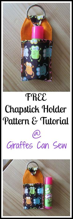 Free chapstick holder pattern and tutorial