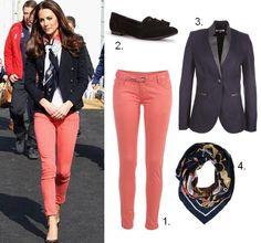 Kate Middleton coral jeans How To Mix and Match Your Jeans Everyday