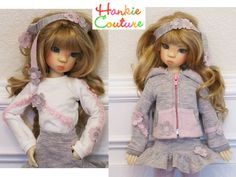 Casual Outfit for MSD-size dolls by Kaye Wiggs ♡ dolls Layla, Nyssa, Miki, Anabella ♡ http://hankiecouture.com ♡ #hankiecouture 2013