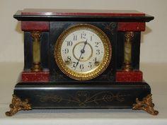 Antique Black Mantle Clock---- Seth Thomas Wedding day gift for him