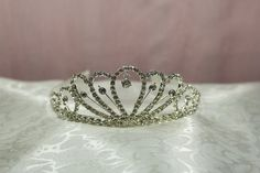 Rhinestone Center Metallic Bridal Crown