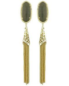 Julie Clip Earrings in Pyrite - Kendra Scott Jewelry.