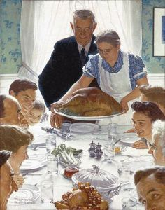 Why are people who have everything they need shopping on Thanksgiving for stuff they just want? Norman Rockwell's Freedom from Want is a poignant reminder.
