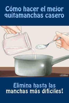 Cómo hacer el mejor quitamanchas casero #quitamanchas #lavar #DIY