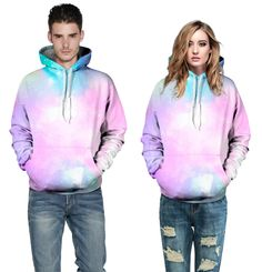 2015 NEW 3D print pink galaxy leisure sweatshirt autumn winter couple hooded hoodies vintage cotton tracksuits sport suits S-XL