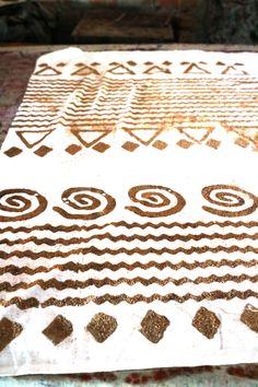 Type, Cuts & Printing Blocks Reasonable Wood Stamp Floral Pattern Hand Carved Wooden Textile Block Printing Blocks Drip-Dry