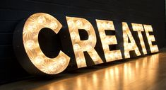 Theater Marquee Lights font | Light-up Letters | Cinema Signs | Neon Signs | Light Boxes