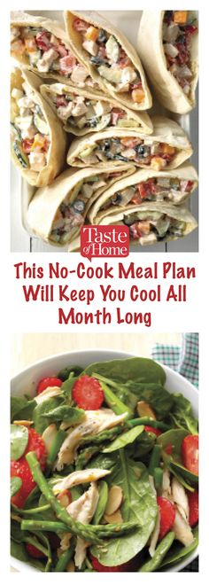 Weekly meal plans 25473554127397025 - This No-Cook Meal Plan will Keep You Cool All Month Long Source by taste_of_home Cool Summer Dinners, Quick Summer Meals, Light Summer Meals, Summer Recipes, Sunday Recipes, Clean Eating Grocery List, Clean Eating Meal Plan, Clean Eating Recipes For Dinner, Healthy Eating