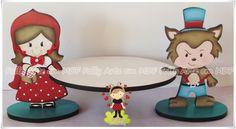 Bandeja Chapeuzinho Vermelho e Lobo Mau | por FOFFY - Arte em MDF