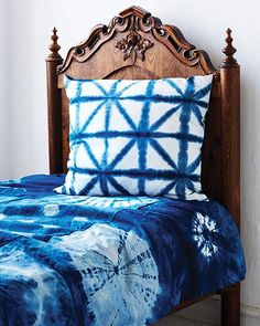 Shibori Dyed Pillow Cover