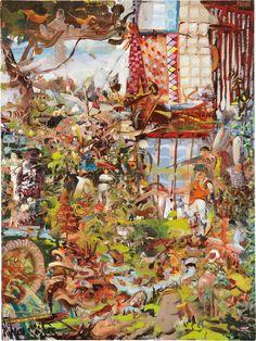 Ali Banisadr (iranien, b. 1976), quelle est la vôtre est le mien, 2008. Huile sur toile, 24 x 18 po.