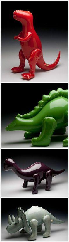 Four amazing ceramic animals