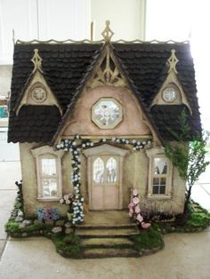 paperclay roof - WyckedWood Orchid - Gallery - The Greenleaf Miniature Community