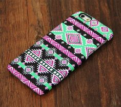 Green Pink Aztec Pattern iPhone 6 Plus 6 5 4 Protective Case – Acyc Girly Phone Cases, Cool Iphone Cases, Cool Cases, Cell Phone Covers, Iphone 6 Plus Case, Accessoires Iphone, Macbook Case, Mobiles, Coque Iphone