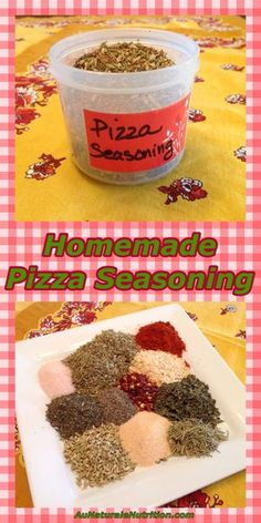 Pizza (and Italian) Seasoning (organic). A perfect blend of spices for a great classic taste! By Pizza (and Italian) Seasoning (organic). A perfect blend of spices for a great classic taste! Homemade Spices, Homemade Seasonings, Homemade Italian Seasoning, Homemade Pizza Sauce, Homemade Dry Mixes, Chutneys, Real Food Recipes, Cooking Recipes, Rib Recipes