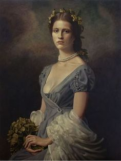 Portrait of Actress Mia Goth's mother for Film 'A Cure For Wellness' Oil o. Portrait of Actress Mia Goth's mother for Film 'A Cure For Wellness' Oil on canvas x by Timna Woollard Victorian Portraits, Victorian Paintings, Renaissance Paintings, Victorian Art, Renaissance Art, Victorian Fashion, Portraits Victoriens, Portrait Art, Female Portrait