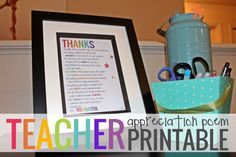 "Teacher appreciation is something I value. Here is a teacher appreciation poem that I created in honor of teacher appreciation day and to say ""thank you teacher"" - to all of my readers!"